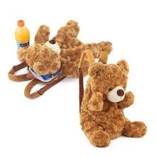 5645c219ba3f 36CM Christmas Gifts for Nursery Cute Kids Schoolbag Teddy Bear Plush  Backpack for Children schoolbag plush