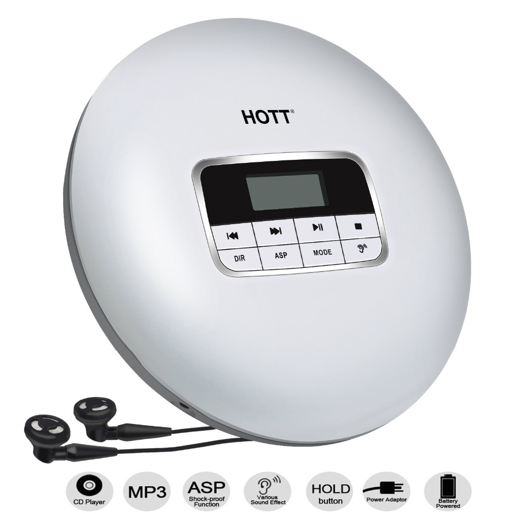 Personal CD Player with LCD Display,Compact Anti-Shock Anti-Scratch Skip Protection Memory Feature Small Music CD Player for Kid portable compact cd player support cd r cd rw mp3 compact disc cd players with lcd display electronic skip protection shock
