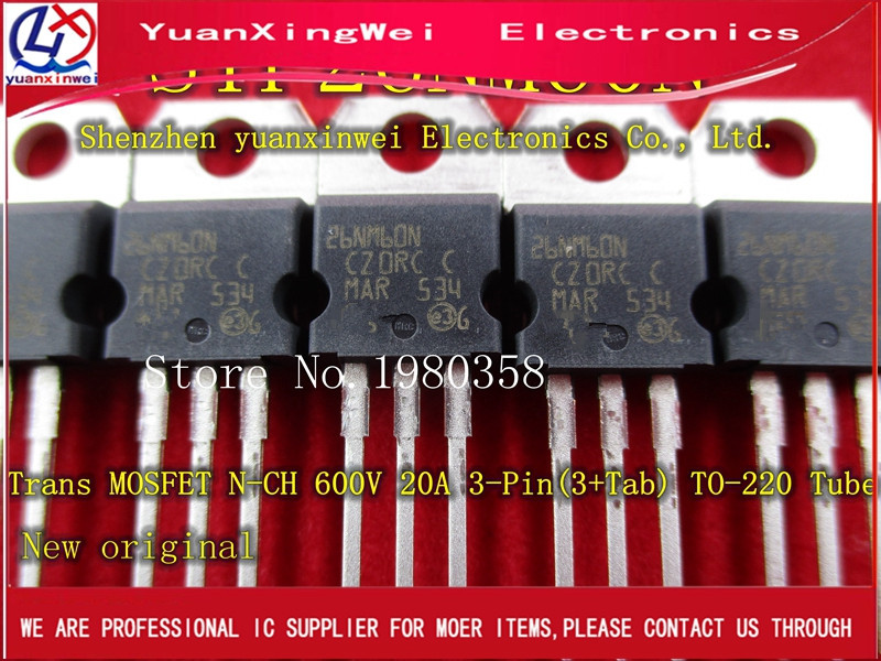 10pcs STP26NM60N STP26NM60 26NM60N Manu: ST Package: TO-220 600V 20A N-channel Power MOSFET fqpf20n60c 20n60c 20a 600v to 220f