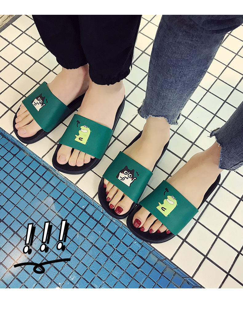 WHOHOLL Man Home Slippers Summer Sandals 2019 New Anti-skid Outside Wear Indoor Home Bathroom Bath Couple Cold Slippers Male 16
