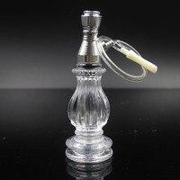 Unique cristallo di vetro tubo di Vetro gorgogliatore tubo di fumo acqua narghilè per smoking