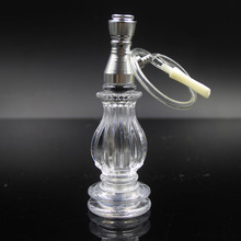 Unique crystal glass pipe Glass bubbler smoking pipe water hookah for smoking