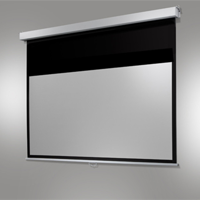 92 Manual Pull Down Projection Projector Screen With 169 Wall