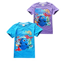new cute kids causal t-shirt cartoon finding cute dory cotton Summer tops t-shirt for 3-10yrs children boys girls shirt clothes