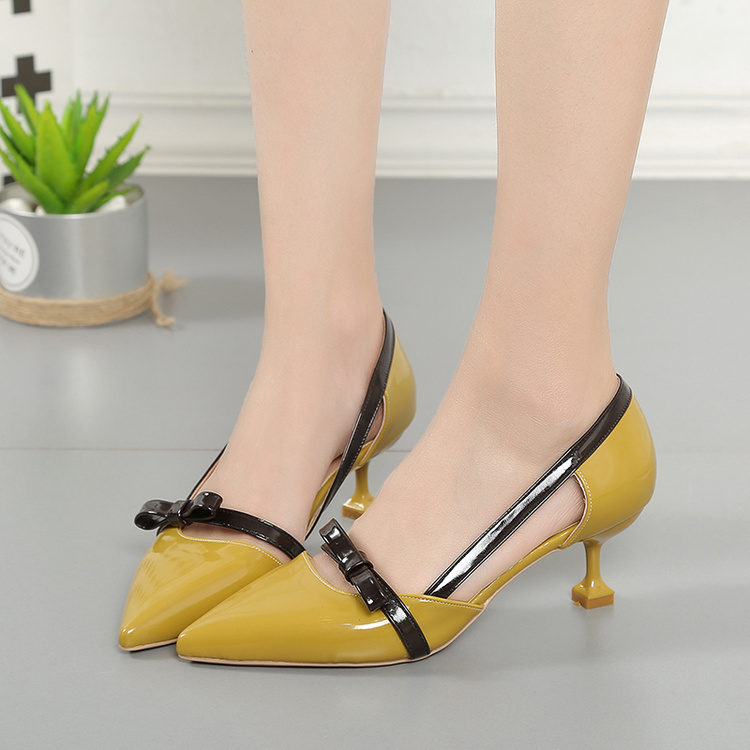 Baotou sandals female spring and autumn 2019 new belt buckle cat with high-heeled shoes shallow mouth stiletto women's shoes