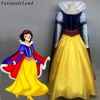 Принцесса Белоснежка косплей, карнавальный костюм костюмы на Хэллоуин темно синий плащ с длинным рукавом Белоснежка платье с бриллиантами