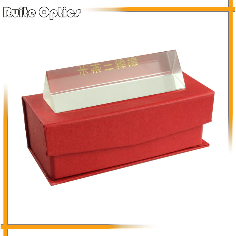 100mm Vagarious Physics Optical Prism for Physics Teaching Glass with Gift Box
