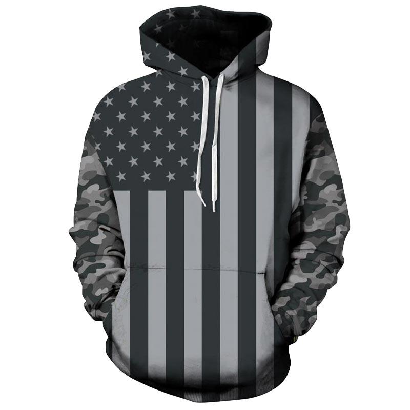 Headbook USA Flagge Hoodies Männer/frauen 3d Sweatshirts Drucken Gestreifte Sterne Amerika Flagge Mit Kapuze Hoodies Anzüge Pullover