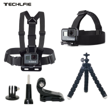 DUSZAKE TG3 Kit For Gopro Accessories Strap For Gopro Hero 6 Xiaomi Yi 4K Mount For Gopro Accessories Set For Gopro Hero 6