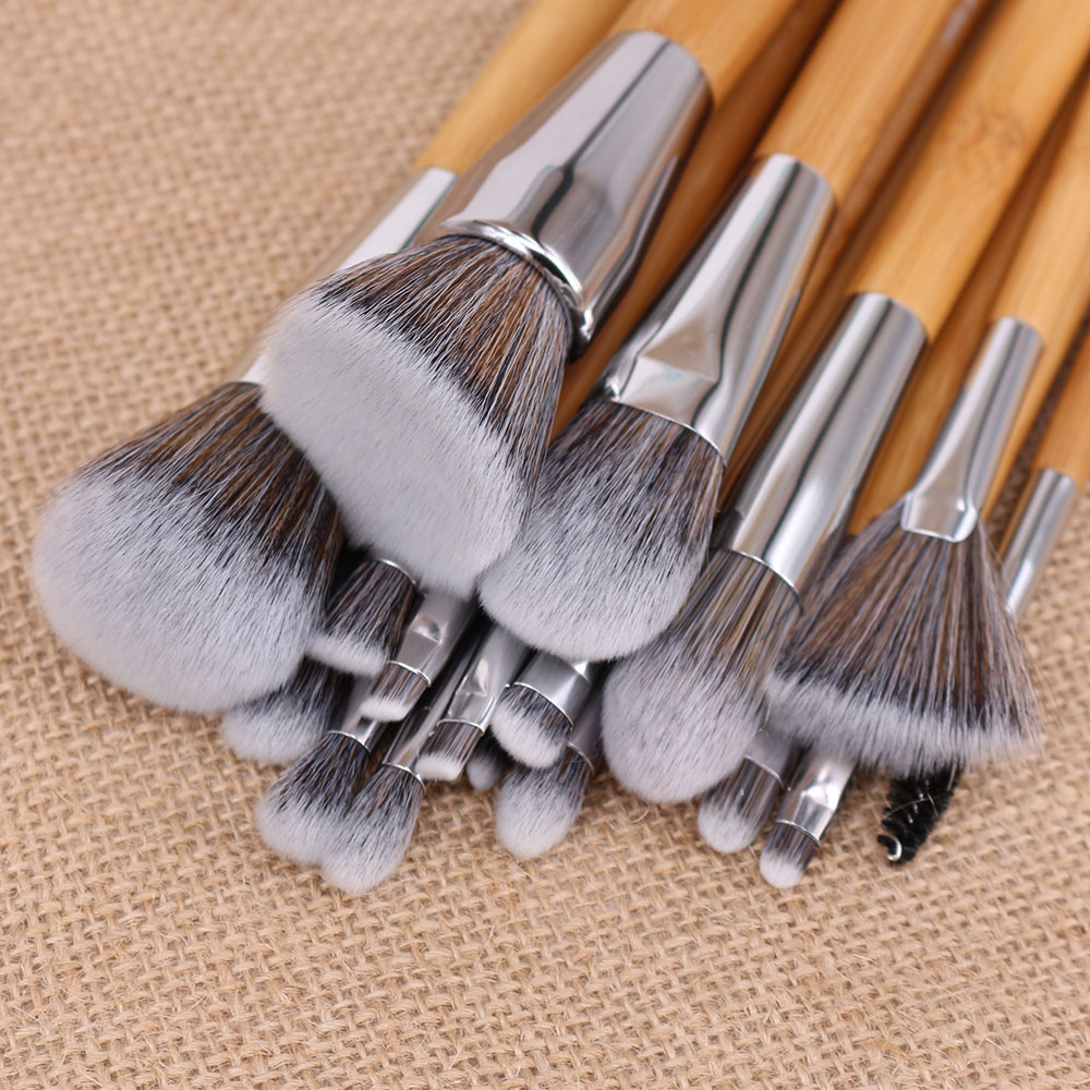 Velayue 5 to 18 Pcs Makeup Brush Set including Flat Top Brush and Fluffy Brush for Full Face and Eye Makeup 1
