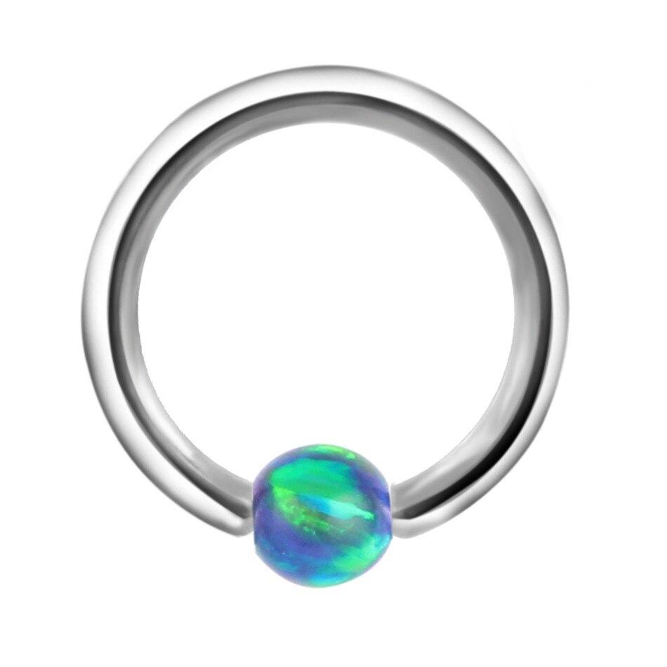1pc 1,0 * 8 mm opal kameni zarobljeni perli prsten Piercing nosovi - Modni nakit - Foto 5