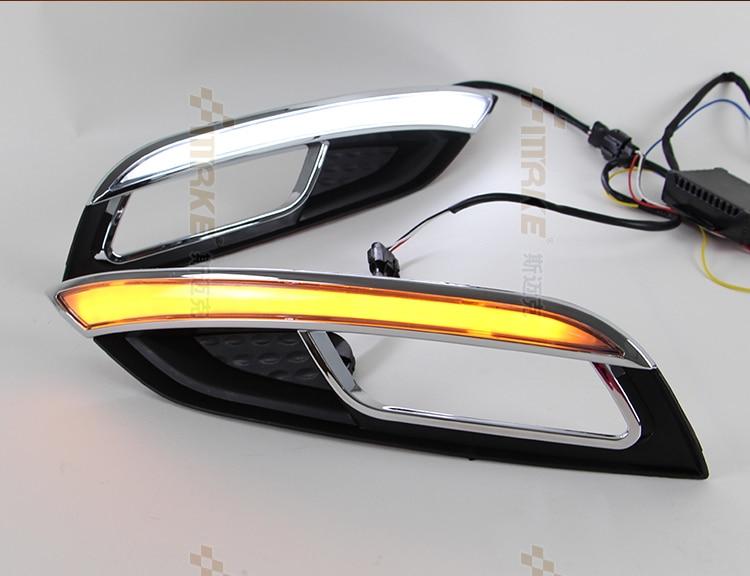 Osmrk новое прибытие Сид DRL дневного света для Kia К3 2013-14, с движущимися поворотник, труба дизайн, высокое качество