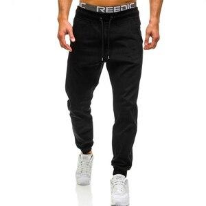 New men's jogging pants brand men's pants casual pants sports pants men's gym muscle cotton fitness exercise hip-hop stretch pan