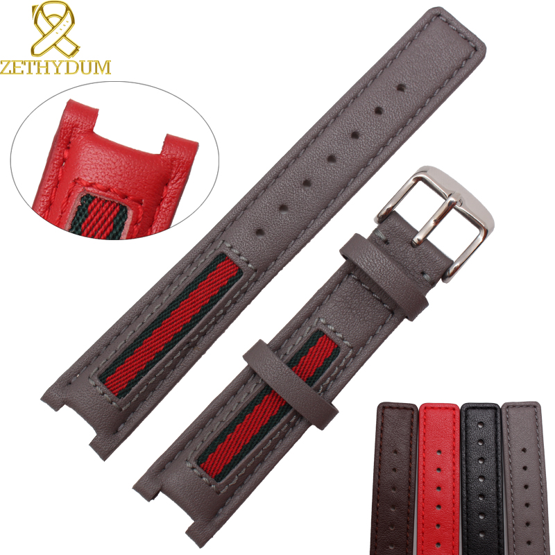 Genuine leather watch belts canvas watchband 18 20 22mm notch interface leather wristwatches band watch strap pin buckle high q notch filter 50hz low frequency shift narrow band notch notch depth single resistance adjustable wide input