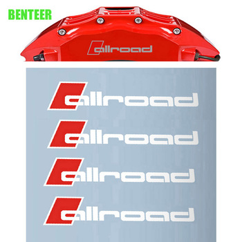 4pcs Oracal Material Allroad Brakes decals sticker for Audi A1 A3 A4 A4L A6 A6L A7 A8 Q3 Q5 Q7 TT S sline