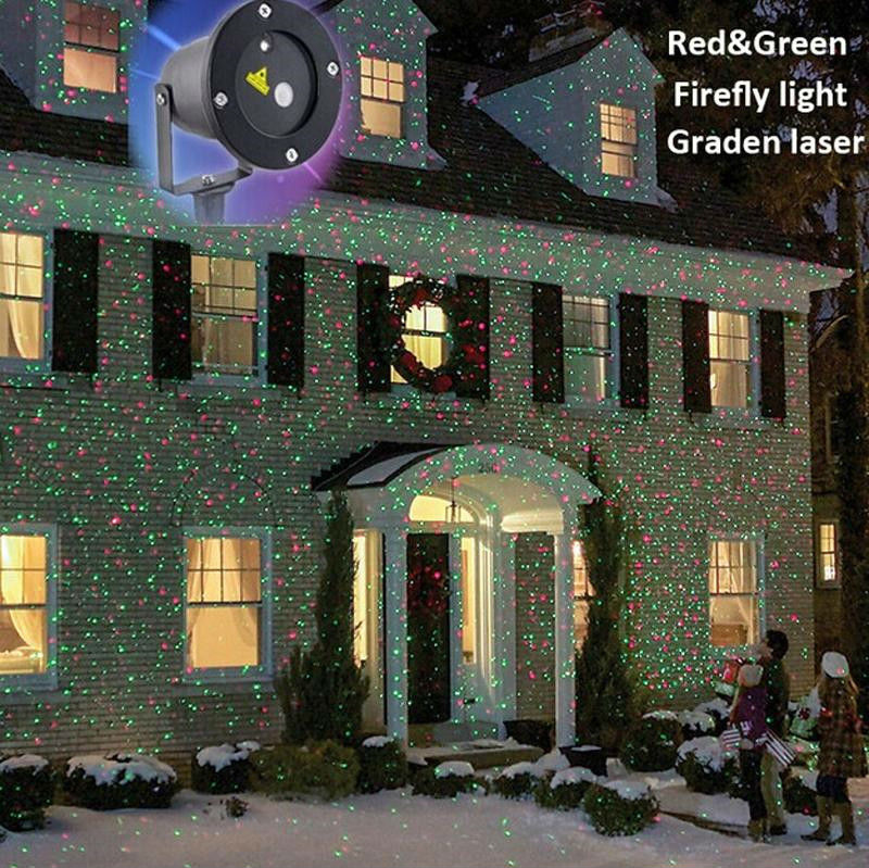 Outdoor Ip Waterproof Laser Stage Light Elf Christmas Lights Led Laser Light Projectorred Green Firefly Yark Decorations In Stage Lighting Effect From