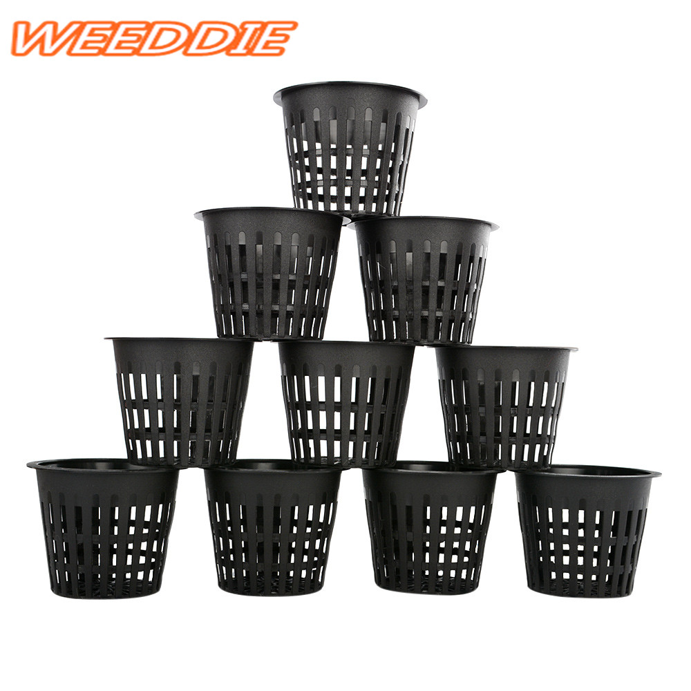 "Hot 1Pcx <font><b>3</b></font>"" Heavy Duty Mesh Pot <font><b>Net</b></font> <font><b>Cup</b></font> Basket Hydroponic Aeroponic Plant Grow Clone"