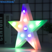 Lovely Star LED 3D Night Lights Cute Kids Toys Marquee Sign For Home Baby Children Bedroom Decoration 3D Lamp Christmas Gifts lumiparty led reindeer night light cordless night table lamp christmas wall marquee sign with 8 led lights for christmas