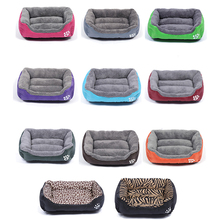 Multi-Color Soft PP Cotton Pet Hundeseng Vinter Varm Polstret Puppy Cat Sovesofa Pude Vandtæt Cat Dog Pet Mat House