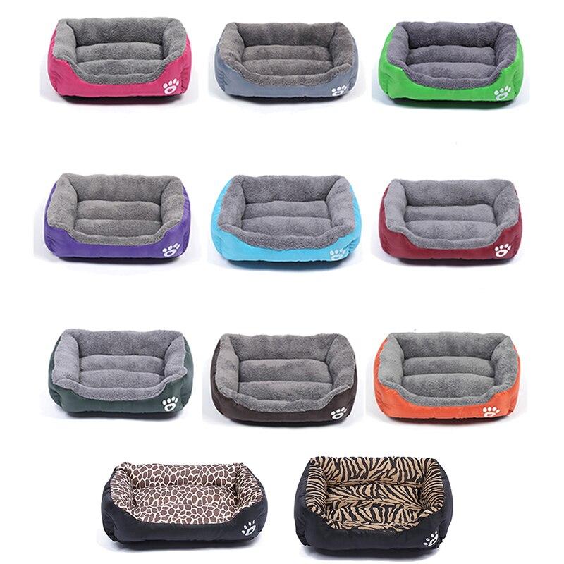 Multi-Farbe Weichen PP Baumwolle Pet Hund Bett Winter Warme Padded Welpen Katze Sofa Bett Kissen Wasserdicht Katze Hund haustier Matte Haus