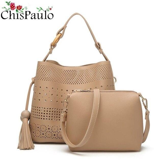 f5fedcca18 CHISPAULO NEW Designer Handbags High Quality Cowhide Women Genuine Leather  Handbags Casual Tassel Women Purses And Handbags C250