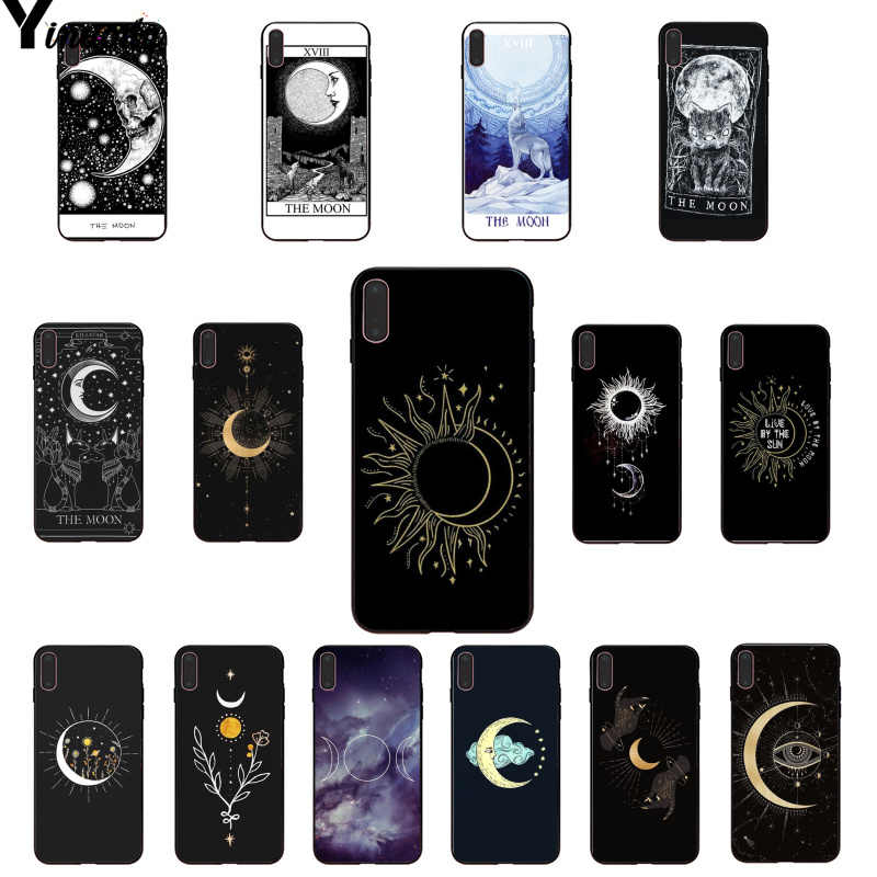 Yinuoda Magic Moon Tarot Soft Silicone TPU Phone Cover for Apple iPhone 8 7 6 6S Plus X XS MAX 5 5S SE XR Cellphones