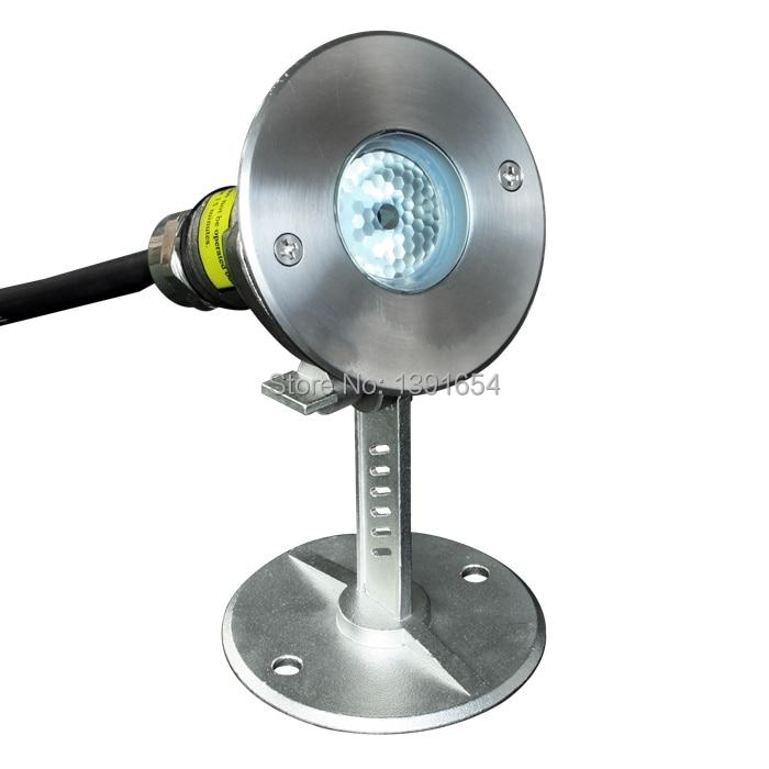 100% IP68 316 de acero inoxidable 3W a prueba de agua Luz subacuática LED para lámpara Fountain Pond LED Pool Light RGB blanco cálido blanco