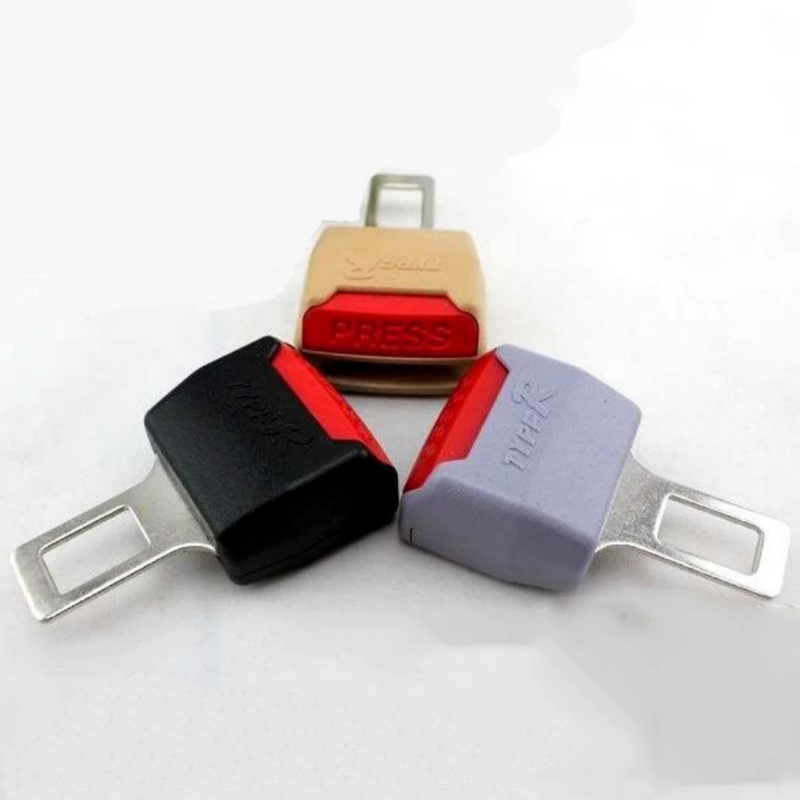 Image 2 - 2 Color 1pc Car Seat Belt Clip Extender Safety Seatbelt Lock Buckle Plug Thick Insert Socket Black / Beige-in Seat Belts & Padding from Automobiles & Motorcycles