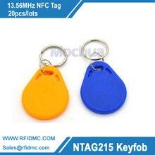 13.56MHz Ntag215 key fob NFC Tag NFC Amiibo tag