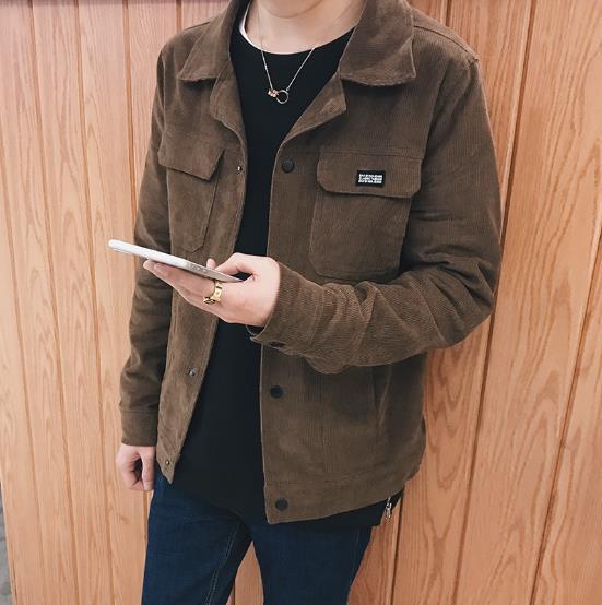 90de7983110 Hot 2017 New Brand Autumn Winter Fashion Vintage Corduroy Jacket Cotton Casual  Coats Hip Top Men