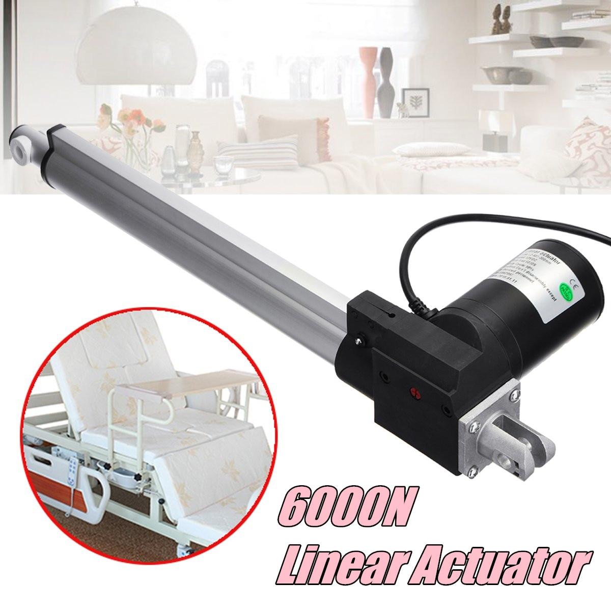 Actionneur linéaire Tubulaire Moteur DC12V 300mm/12 pouce Course Robuste 6000N charge linéaire électrique actionneur linéaire tubulaire moteur