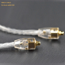 лучшая цена Pizen MMCX Silver Plated Cable Earphone Upgrade Cable for shure SE215 SE315 SE425 SE535 SE846 UE900 MAGAOSI K3 DQSM VT earphone
