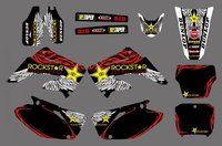 0153 Star New Style TEAM GRAPHICS BACKGROUNDS DECAL STICKER Kit For CR125 CR250 2002 2003 2004