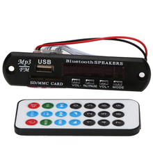 Módulo Bluetooth 3.0 receptor de audio USB SD TF FM Reproductor de Audio MP3 WMA Módulo Decodificador Bordo de Altavoces con Control Remoto