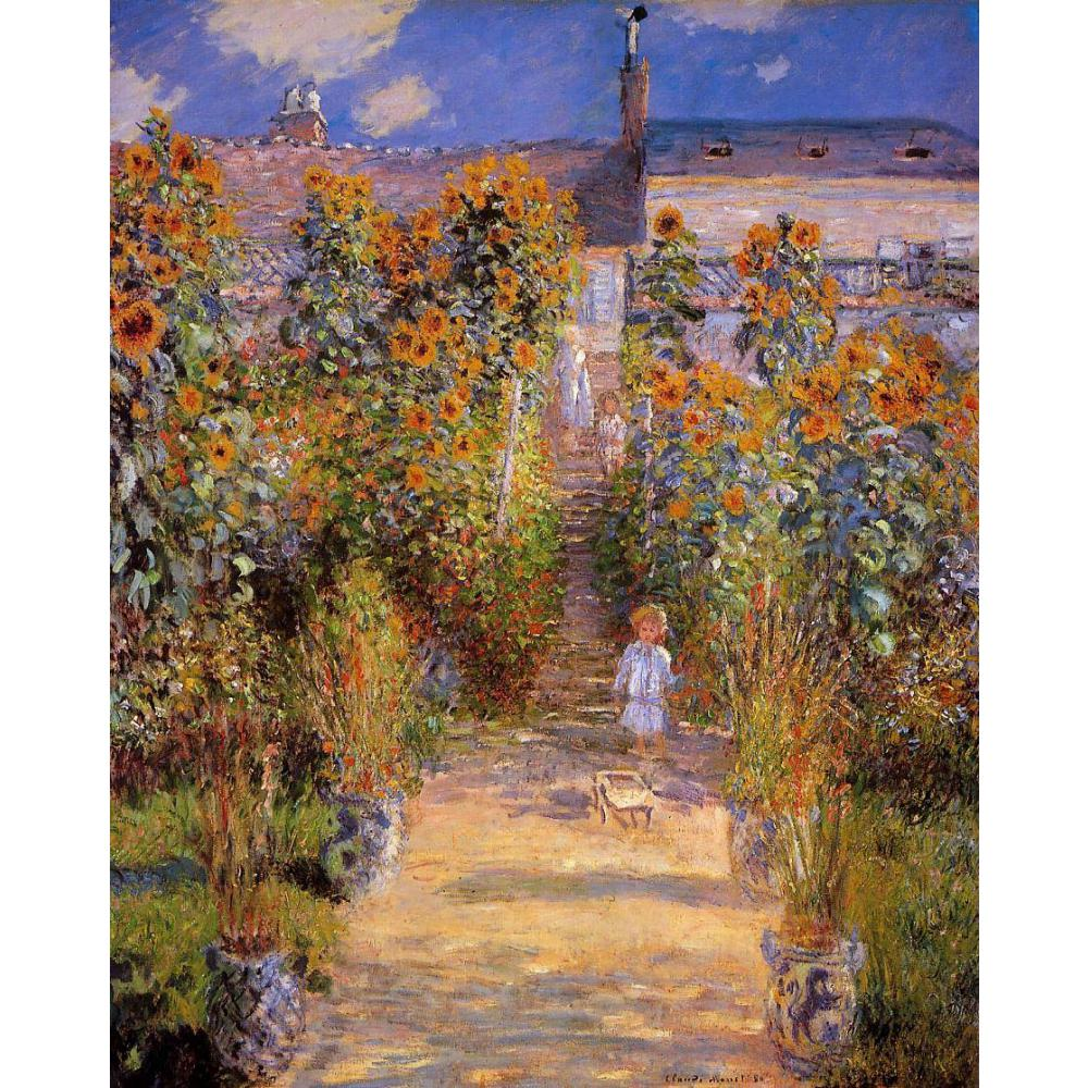 High quality Claude Monet paintings Monets Garden at Vetheuil oil on ...