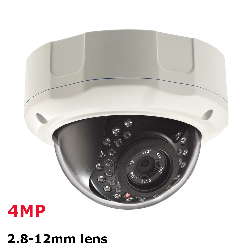 1520P HD 4MP IP Camera Dome Vandalproof Securitycamera CCTV Surveillance Onvif P2P IP Cam IR Cut Filter Megapixel 2.8-12mm lens cctv cam ip camera 1080p hd outdoor waterproof pt onvif surveillance inspection dome security camera ir led