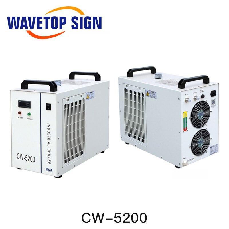 S & A CW5000 CW5200 CW5202 Industrie Luft Wasserkühler Für CO2 Laser Maschine Kühlung CNC Spindel 80W 100W 130W 150W Co2 Laser Rohr