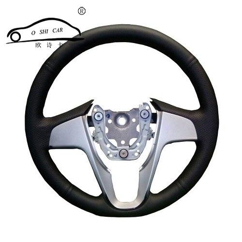 Künstliche Leder auto lenkrad abdeckung für Hyundai Solaris Verna i20 2008-2012 Accent/Nach maß gewidmet Lenkung -rad