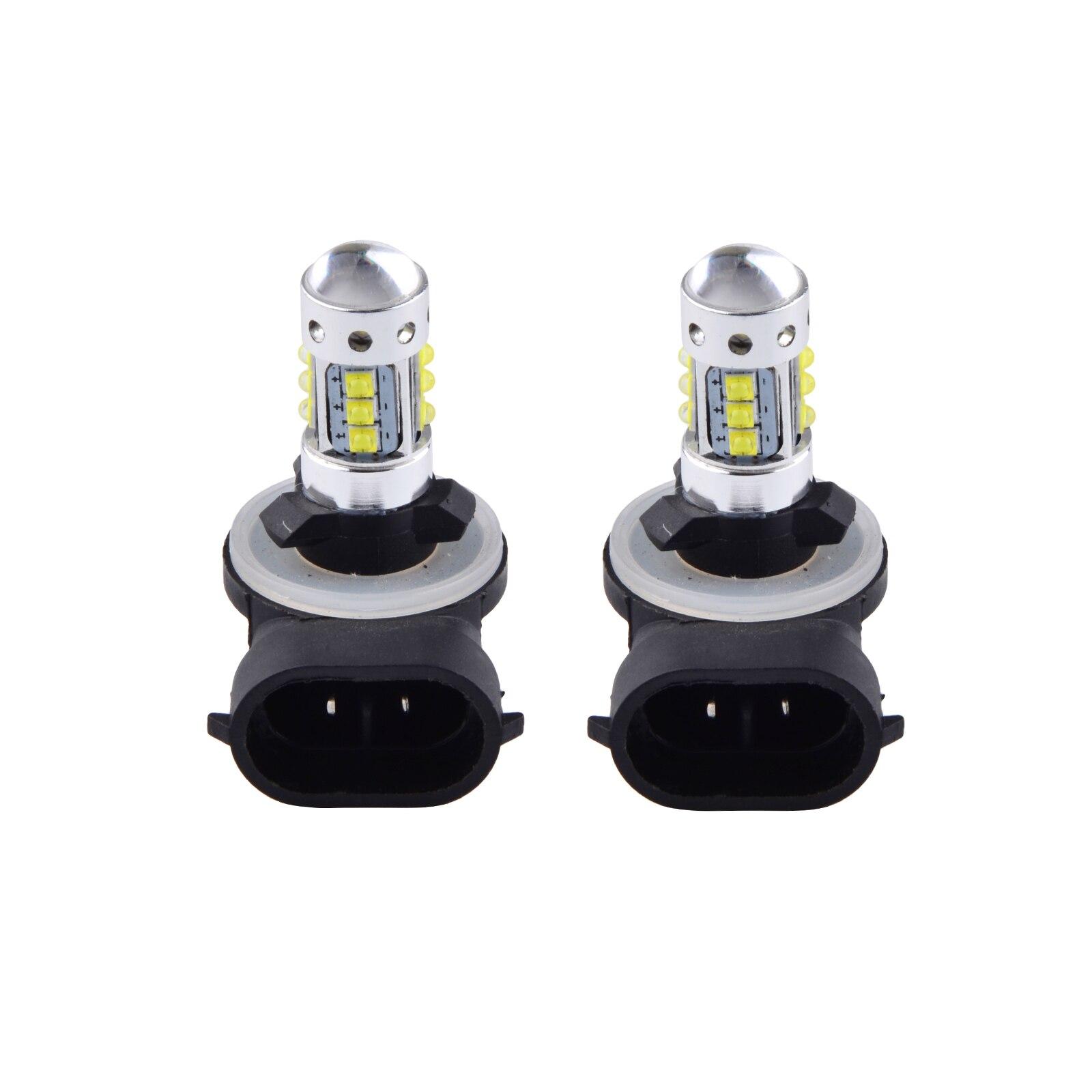 2PCS For Polaris Ranger RZR LED Headlight Bulbs Lamps 50W Bulbs 2009 2010 Pair