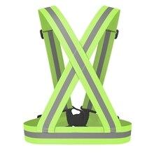 Светоотражающий жилет безопасности светоотражающий ремень видимость перекрестный ремень жгут Пояс, зеленый