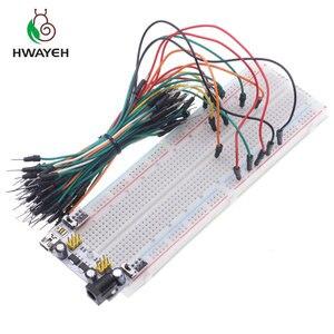 3.3 فولت/5 فولت MB102 اللوح الطاقة وحدة + MB-102 830 نقاط لحام النموذج لوح خبز كيت + 65 مرنة أسلاك توصيل معزز
