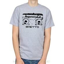 f9e7d342ea1c1 Ghetto Blaster vieja escuela urbana Hip-Hop camiseta impresa camiseta  hombres manga corta o-