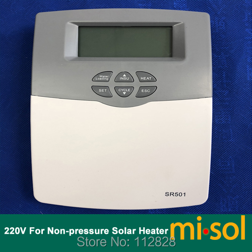 220V Intelligent Controller for Compact non pressurized Solar Water Heater 1 pcs of 220v intelligent controller for compact non pressurized solar water heater ms swh src 500 b