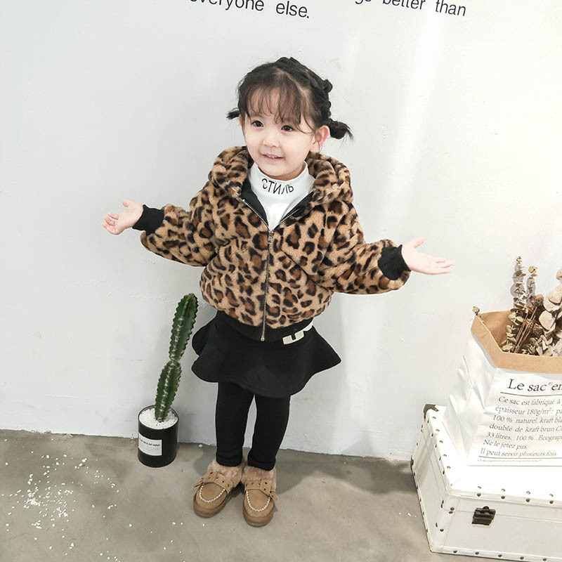 New Fashion Winter Leopard Print Coat Baby Girl Clothes Girl Winter Coat Warm Kids Winter Jackt wholessale children 2016 fashion style new arrival es winter party clothes brand es baby girl clothes pattern new nice hot