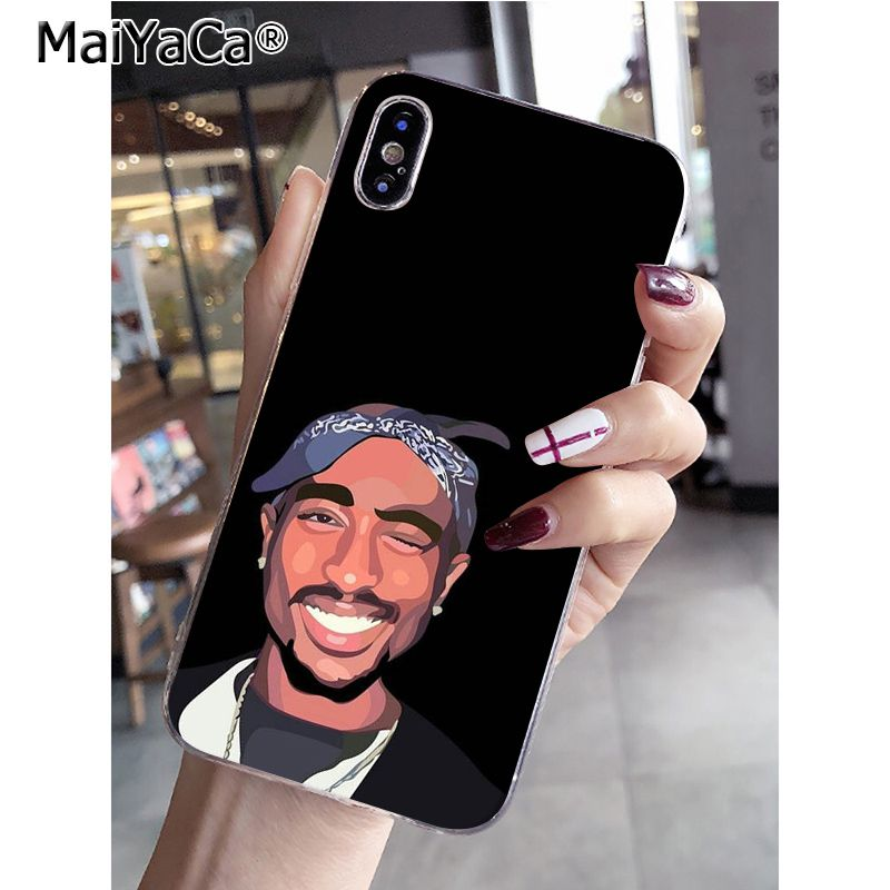 Phone Bags & Cases Yinuoda 2pac Makaveli Tupac Amaru Shakur Black Tpu Soft Phone Cover For Iphone 8 7 6 6s Plus X Xs Max 5 5s Se Xr 10 Cases Cellphones & Telecommunications