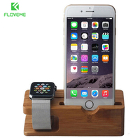FLOVEME Wooden Mobile Phone Stand For IPhone 7 7 Plus 6 6S Plus Desk Phone Holder