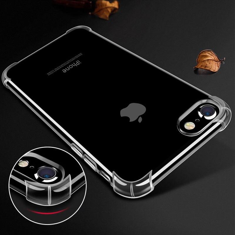 4331f7173a59 Funda transparente antigolpes de cristal para iphone 6 6 S plus, diseño más  nuevo, Venta caliente, material suave de TPU para iphone 7 en Casos  amueblada de ...