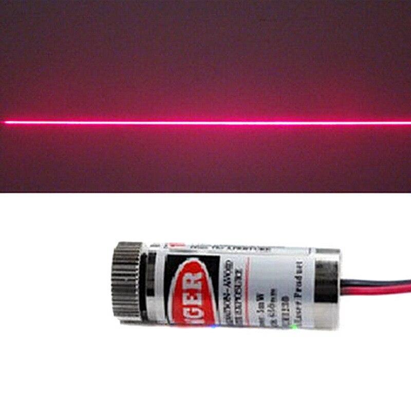 1 Pc Rote Linie Laser Modul 5 Mw 650nm Fokus Einstellbar Laser Kopf 5 V Industrie Grade P20