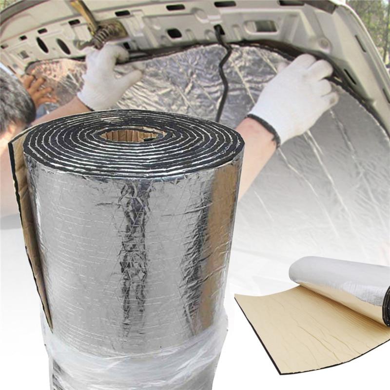 4 M x 1 M tapis de preuve d'isolation Audio contrôle du bruit insonorisant voiture bouclier thermique insonorisation mousse isolation