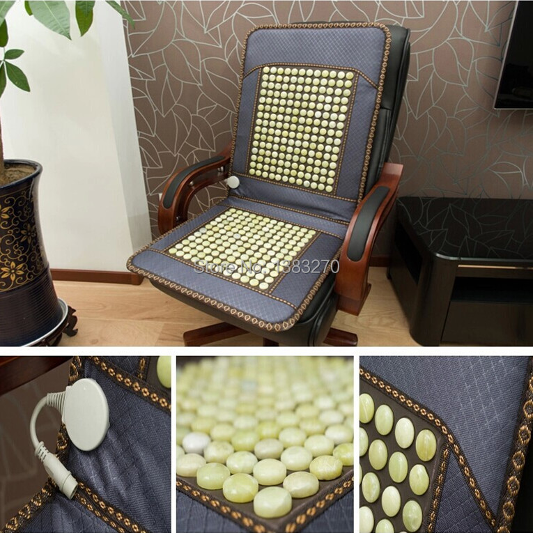 2014 products health care for Elderly people natural jade stone massage jade office chairs cover cushion cool 2016 products health care for elderly people natural germanite stone massage bed cover cushion 3 size for you choice
